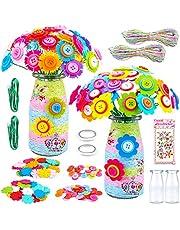 CITSKY Kits de Flores de Botones Juego de Arte de jarrón de Bricolaje Kits de Manualidades Creativas para niños Juguetes para niñas