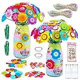 Juguetes para niñas de 8, 9, 10, 11, 12 años, arte y manualidades, regalos de juguete para niños de 5 a 12 años, manualidades para niñas, kit de manualidades con flores para niños de 8 a 10 años