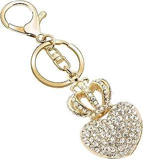 Keychains for Women, Flower Crystal Rhinestone Keychain Key Chain Sparkling Key Ring Charm Purse Pendant Handbag Bag Decor...