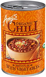 Amy's Organic Chili with Vegetables, Medium, Vegan, USDA Organic, 14.7-Ounce