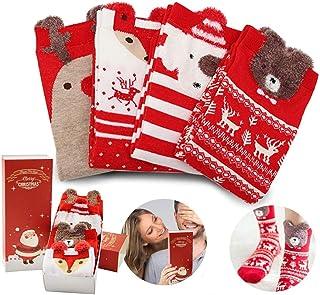 O-Kinee, O-Kinee Calcetines de Navidad, Calcetines Navidad Calcetines Térmicos de Navidad Exquisita Caja de Regalo, Calcetines Regalos de Navideños para Mujer