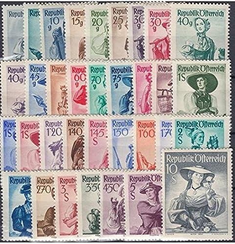 Goldhahn  erreich Nr. 893-926 postfrisch Trachten 1948 Briefürken für Sammler