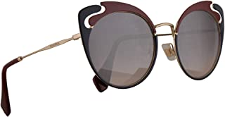 Miu Miu MU57TS Sunglasses Pale Gold Garnet Blue w/Pink Gradient Violet Mirror Silver 54mm Lens HB5GR0 MU 57TS SMU 57TS SMU57T