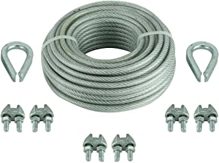 1//16-.140-Inch by 500-Feet Koch Industries 014053 1 x 7 Vinyl Coated Galvanized Cable Green