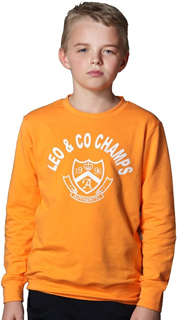 LeoLily Big Year-end annual account Boys' Kids Sports Fleece Pullover All items in the store Hoodie Sportswear