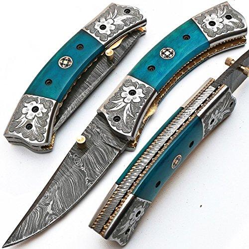 'Cuchillos de Damasco plegable >–Navaja