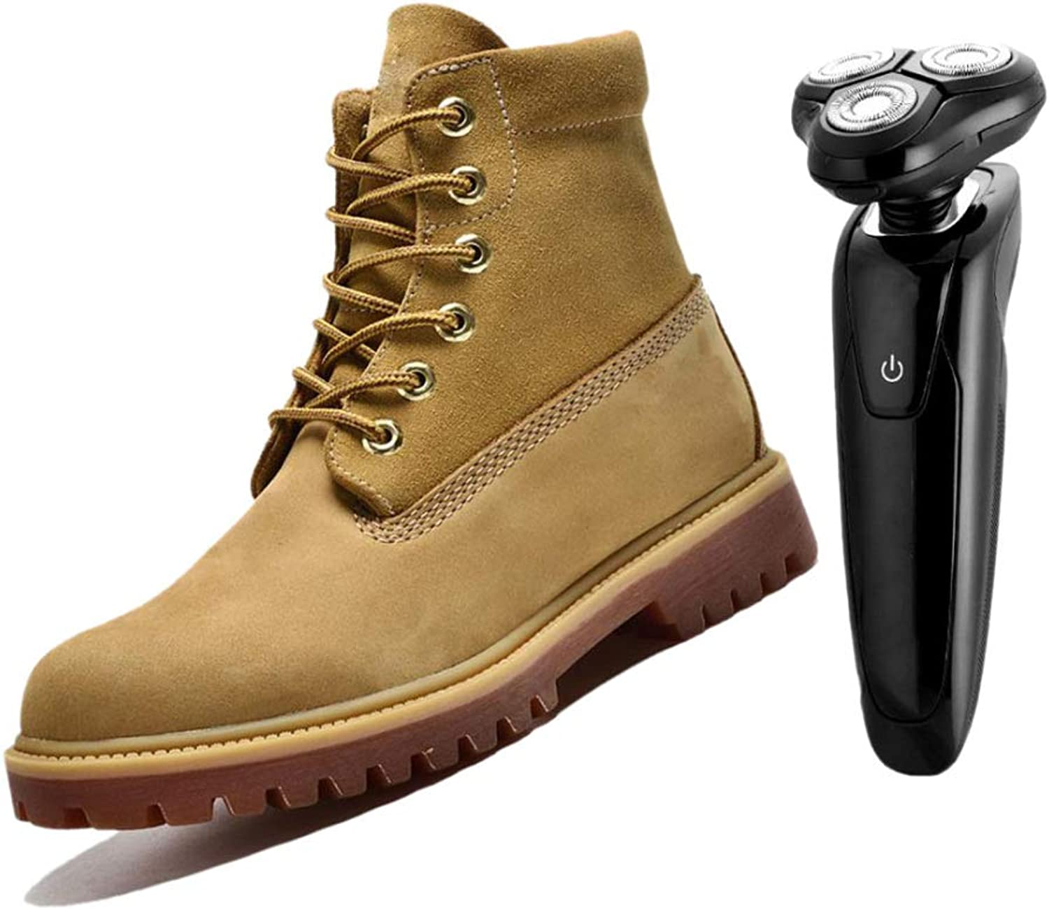 High-top Men's Lace-up Boots Desert Boots Yellow Brown bluee Breathable Outdoor On Foot