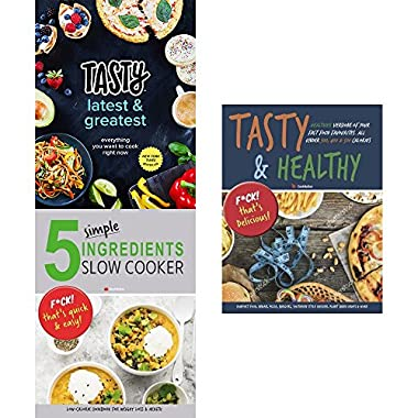 Tasty latest and greatest cookbook [hardcover], 5 simple ingredients slow cooker and tasty and tasty and healthy 3 books collection set