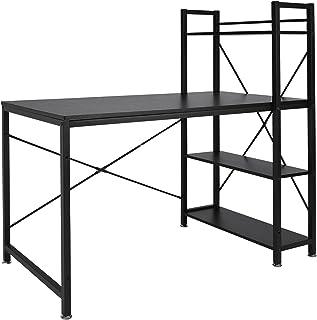 Sararoom Bureau, Table Informatique, Poste de Travail, avec 4X étagères de Rangement,Stable, Montage Facile, pour Bureau à...