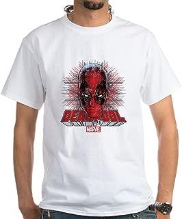 Deadpool Face 2 White T-Shirt Cotton T-Shirt