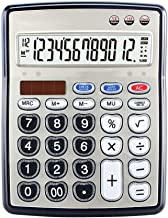 $47 » Yusuo Desktop Calculator 112 Steps to Check The Number and Review The Computer Dual Power Solar Calculator for Office Students