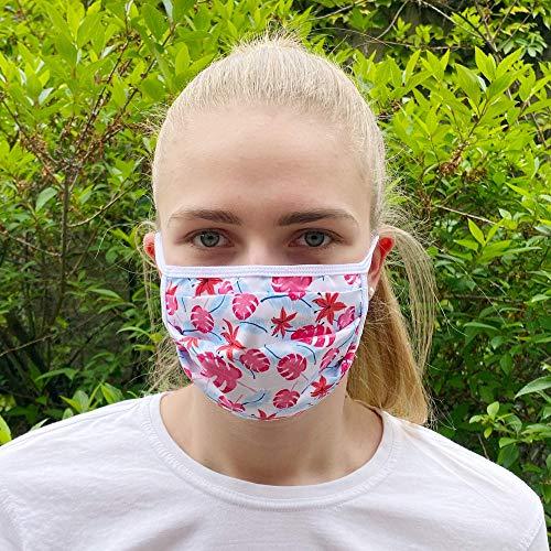 Communitymaske, Mundschutz aus Baumwolle, Flower
