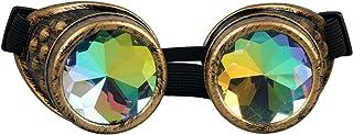 Kaleidoscope Rave Rainbow Crystal Lenses Steampunk Goggles…