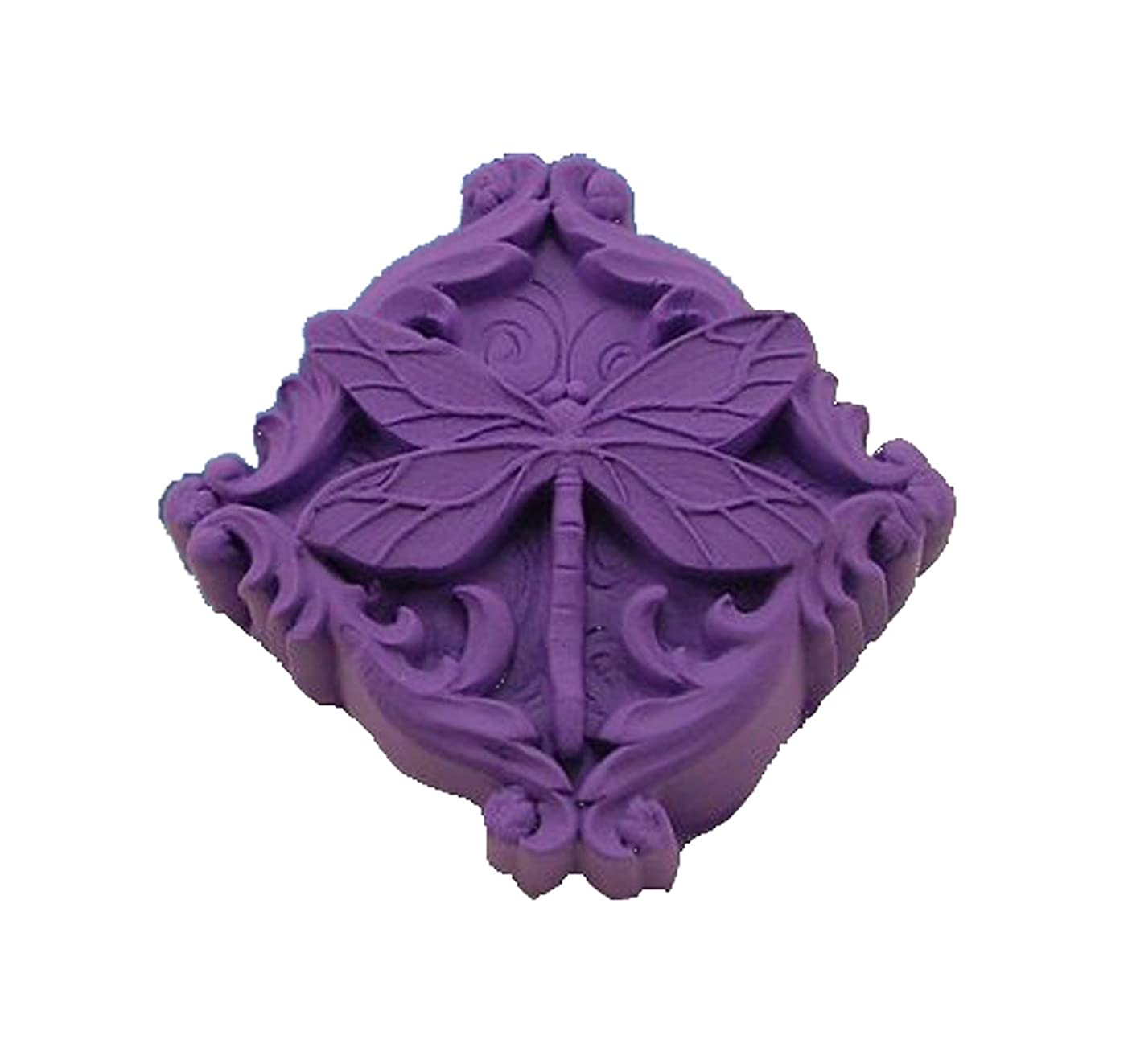 Longzang Dragonfly Art Silicone Craft DIY Handmade Soap Molds (S002)