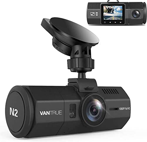 """Vantrue N2 Dual Lens Dash Cam 1080P Front and Rear Dash Camera, 310° Wide Angle 1.5"""" LCD with HDR Car Video Recorder ..."""