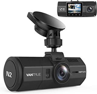 Vantrue N2 Uber Dual lens Camera -Dash Cam for Car, Driving Recorder, 1080p FHD LCD Screen, Nighthawk Vision, Wide Angle L...