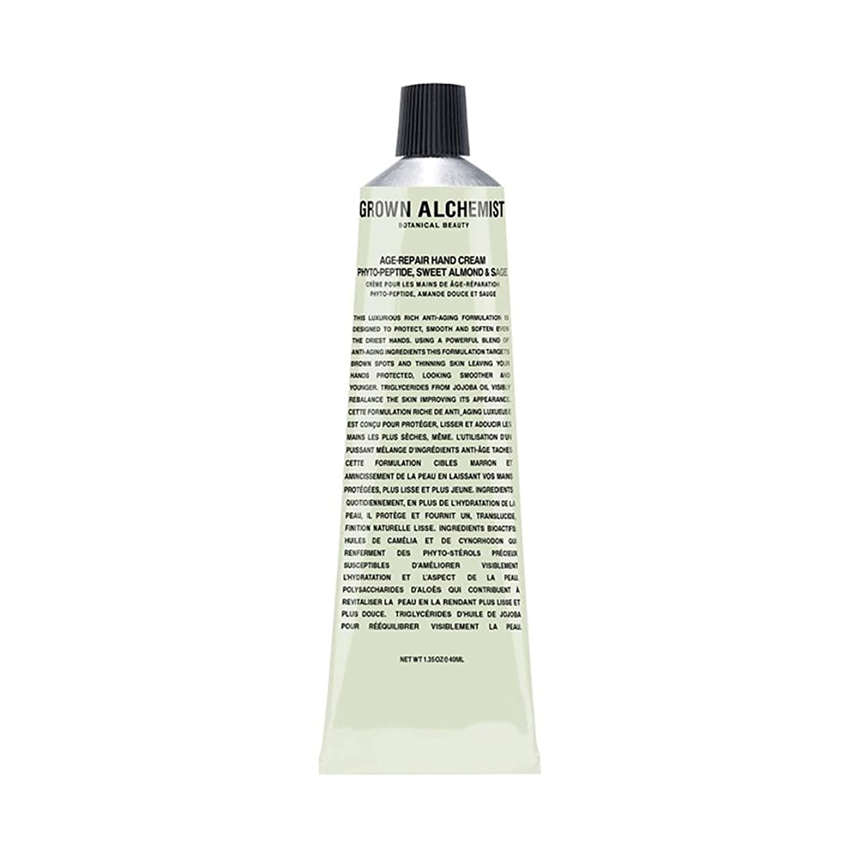 セラフ却下する威するGrown Alchemist Age-Repair Hand Cream - Phyto-Peptide, Sweet Almond & Sage 40ml/1.35oz並行輸入品