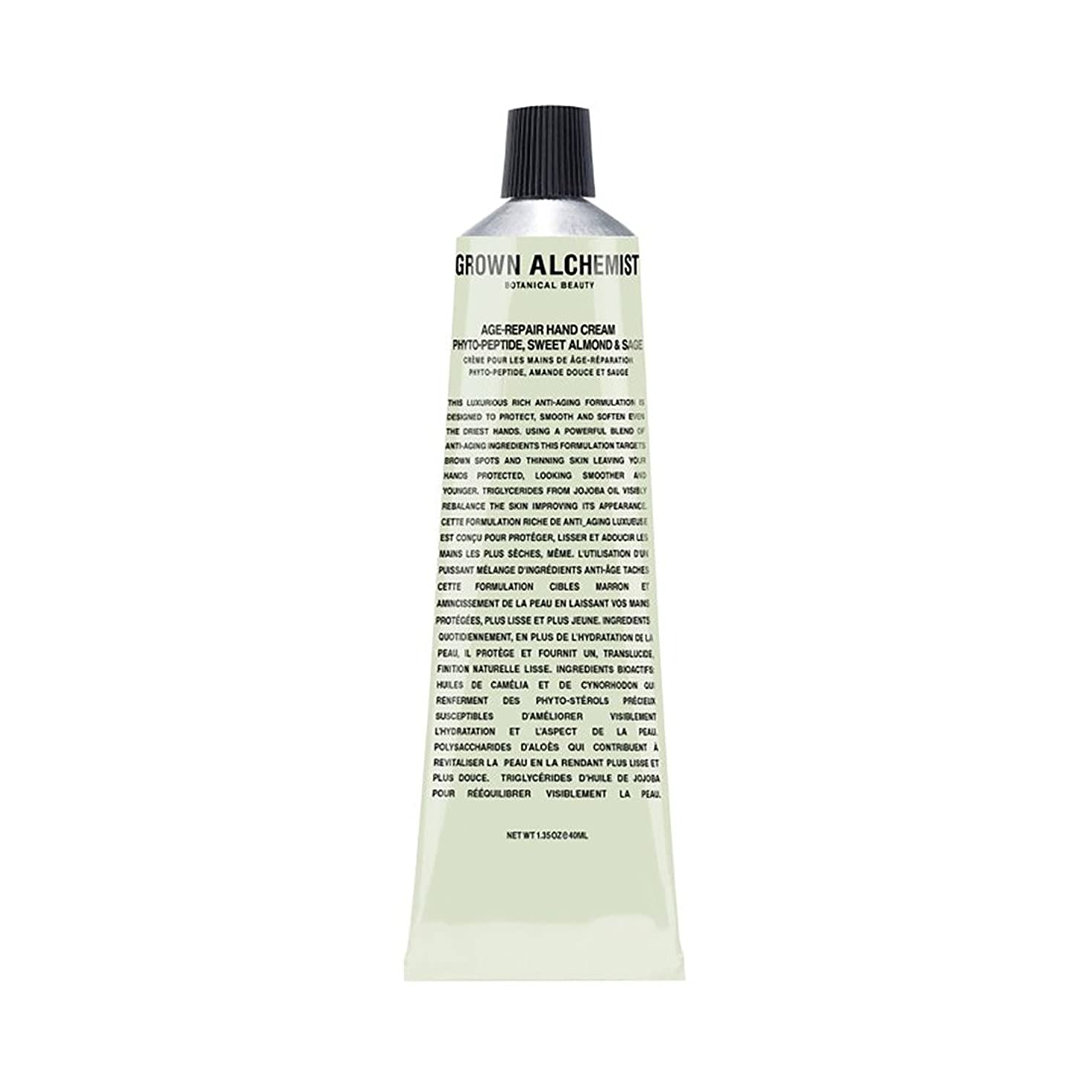 Grown Alchemist Age-Repair Hand Cream - Phyto-Peptide, Sweet Almond & Sage 40ml/1.35oz並行輸入品
