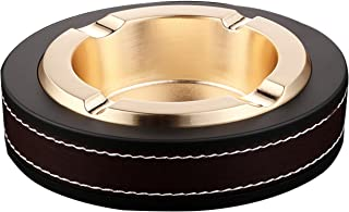 Durable Dolomite WHW Whole House Worlds Crosby Street Gold Outdoor Ash Tray Glazed Ceramic 2 Pieces 4 /½ Inch Diameter