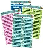 Bambinella® Namensticker für Stifte individualisierbar - 3 Blatt à 42 Stück = 126 Stück - Hergestellt in eigener Werkstatt in Deutschland