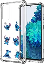 DISNEY COLLECTION Compatible with Samsung Galaxy S20 FE 5G Case (2020 Release) Disney Stitch Clear Design Case with 4 Corn...
