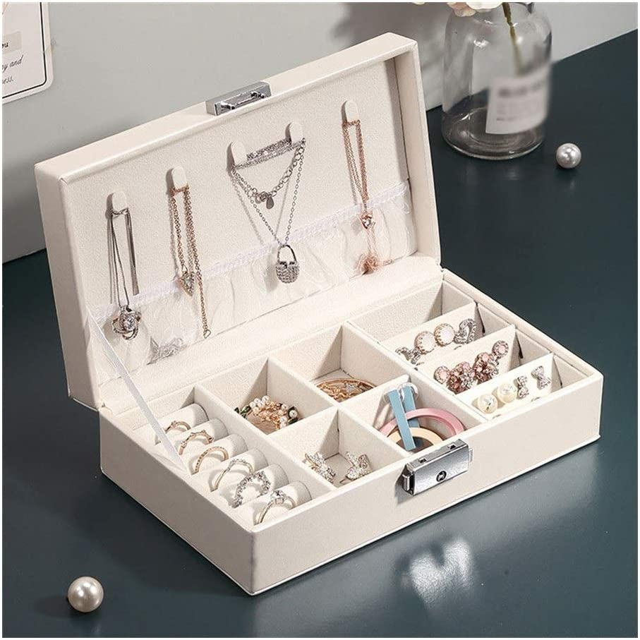 SBCDY Jewelry Box Organizer Quality inspection Earring Superior f Necklaces Case