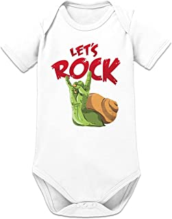 "Shirtcity Let""s Rock Baby Strampler by"