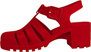 Melissa Waterproof Strappy Jelly Block Heeled Sandals for Women Teen Girls (Assorted Colors)
