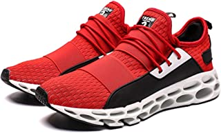 AUCDK Men Fashion Mesh Running Shoes Casual Breathable Sneakers Men Lightweight Low Top Sports Shoes