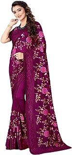 Indian Designer Eid Festival sari silk heavy Resham kashmiri Embroidery Muslim Saree Blouse 5789