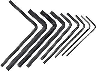 9pcs Guitar Bass Neck Bridge Screw Adjustment Truss Rod Wrench Repair Tool Set Kit 1.5mm / 2.0mm / 2.5mm / 3.0mm / 4.0mm / 5.0mm, 1/20'', 1/8'', 3/16''
