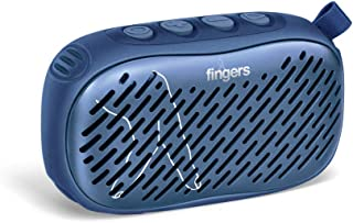FINGERS Musilicious BT1 Portable Wireless Bluetooth-v5.0 Multifunction Speaker with Best FM - USB - AUX - MicroSD (Colour - Oxford Blue)