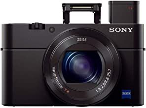 Sony RX100 III 20.1 MP Premium Compact Digital Camera w/1-inch Sensor and 24-70mm F1.8-2.8 ZEISS Zoom Lens (DSCRX100M3/B),...