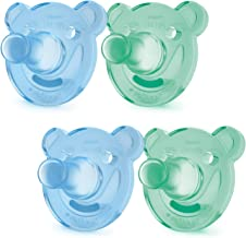 Philips Avent Soothie Shapes Pacifier, Green/Blue, 0-3 Months, 4 Pack