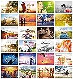 24-er Postkarten-Set LIEBE & LEBEN mit Sprüchen / 24 verschiedene Grusskarten/ideal als Hochzeitsspiel oder Geschenk für Beste Freunde (10755-78)