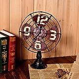 Pkfinrd Retro Antiguo de Hierro Forjado Reloj de Piso Reloj de...