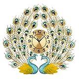 Peacock Wall Clock Living Room Wall Decoration