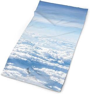 jingqi Fall Clouds in Soft Blue and Aqua Autumn Sky Headband Bandana£¬Outdoor Multifunctional Headwear,Magic Scarf for Men Women 19.7x9.85inch?50x25cm?