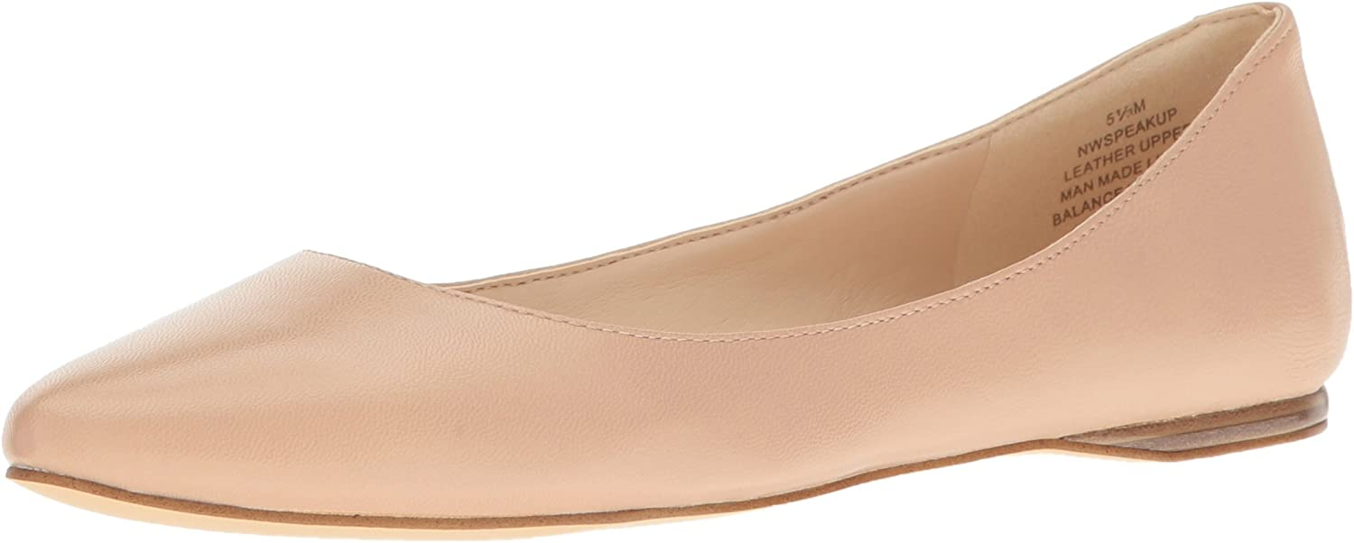 Nine West Women's Speakup Leather Pointed Toe Flat