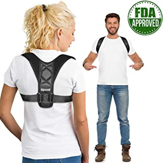 Posture Corrector for Women Men,iUpcoot Upper Back Posture Corrector Comfortable Adjustable Posture Support for Clavicle,Invisiable Back Brace for Neck Back Shoulder Pain Relief