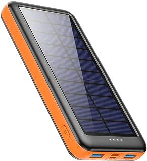 comprar comparacion Feob Cargador Solar 26800mah, Power Bank Solar【2020 IC de Control Inteligente】con Entradas de Tipo-C, Micro USB o Paneles ...