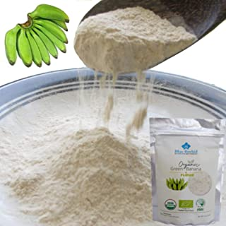 100% USDA Certified Organic - Green Banana Flour Resistant Starch - Superfood Pre-biotic Smoothie Powder - Flour Substitute for Baking - Vegan, Gluten-free, Grain-free, 14 oz