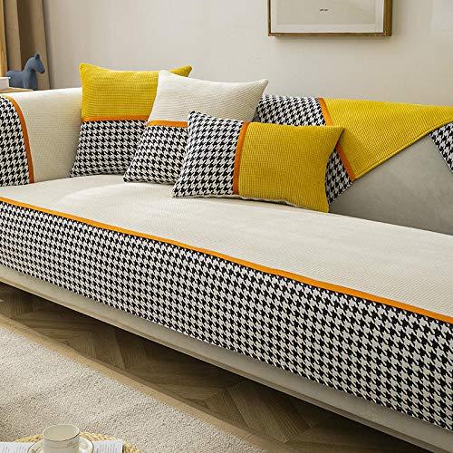 B/H Muebles Elegante Sofa Cubre,Funda de sofá Antideslizante Creativa, Funda de sofá Simple Engrosada-Off-White_110 * 180cm,Fundas de sofá de Esquina