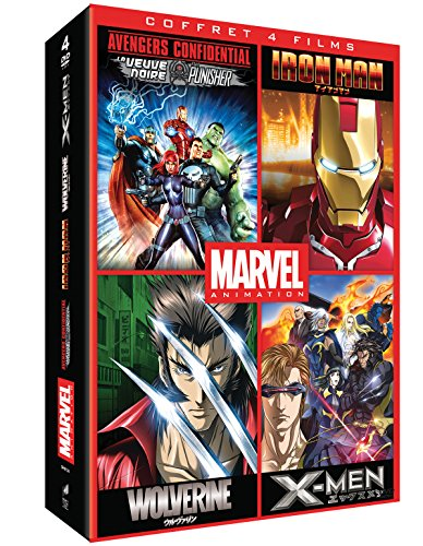 Marvel Animés - Coffret : Iron Man + Wolverine +...