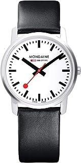 Mondaine - Simply Elegant- Reloj de Cuero Negro para Hombre y Mujer, A400.30351.11SBB, 36 MM