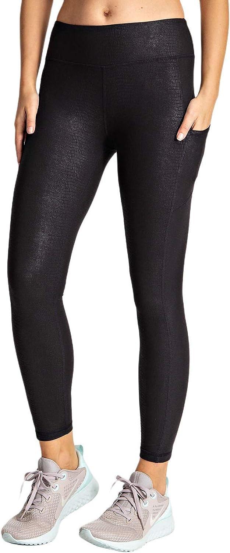 Berrypublic Snake Chintz Active Yoga Sports Pattern Leggings w/Slim Fit Side Pocket Wide Waistband