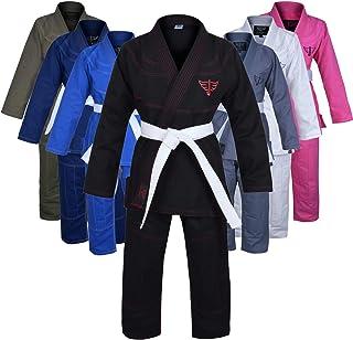 Jayefo Sports Brazilian Jiu Jitsu Gi for Men & Women Preshrunk Grappling Uniform GIS Ultra Lightweight Kimonos Adult BJJ G...
