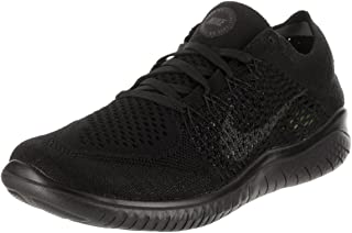 Womens Free RN Flyknit Running Shoe Black/Anthracite 6