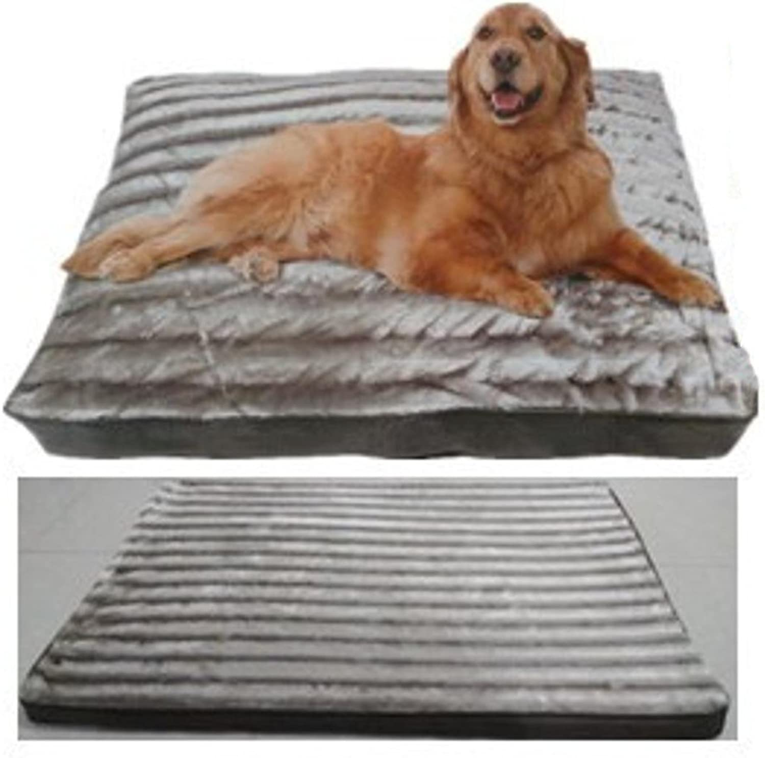 Aoligei Washable Kennel cat Litter Plush Sponge Dog mat, 100x70x6cm Perfect for Sunbathing mat, nap&Sleeping Bed