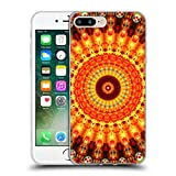 Head Case Designs Oficial Haroulita Orange Mandala 2 Carcasa de Gel de Silicona Compatible con Apple iPhone 7 Plus/iPhone 8 Plus